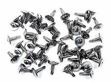 "Mazda Chrome Self Tap #8 x 1/2"" Phillips Washer Head Trim Screws- Qty.50- #230F"