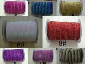 """1"""" Velvet Glitter Metallic Non Elastic Ribbon 1 metre 2 metre 3 metre 5 metre"""