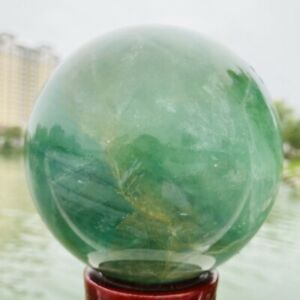 1730g Natural Quality Color Fluorite Quartz Crystal Sphere Healing Ball