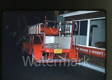 1958 kodachrome Photo slide Vintage Fire Truck #2 Los Angeles CA