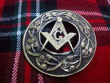 Masonic Antique Finish/Plaid Brooches Masonic Tc Men's Kilt Fly Plaid Brooches