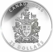 $25 pure silver coin 2016 Canada Coat of Arms  piedfort extra thick