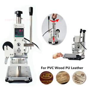 220V Hot Foil Stamping Machine For Leather PVC Card Logo Print Embossing 5*7CM