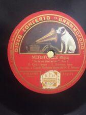 78 GIRI Monofaccia Ten.B. GIGLI Basso C. SCATTOLA canta MEFISTOLE se tu mi doni