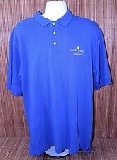 Cutter & Buck Charles Schwab Logo Mens Polo Golf Blue Short Sleeve L Shirt H1