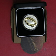 New Zealand 2003  Proof LORD OF THE RING Silver $1 Gold Plating (322/2720/C8)