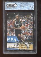 Tim Duncan RC 1997-98 Fleer #201 HOF Spurs Rookie GEM MINT 10