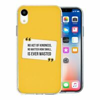 For Apple iPhone XR Silicone Case Peace Yellow Quote - S1781