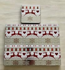 Christmas Reindeer Set Of 4 Placemats & 4 Coasters 2020