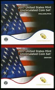 2017 P & D United States Uncirculated Mint Coin Set  JE443