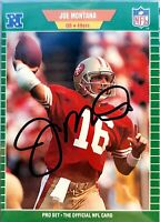 SIGNED Joe Montana Football Card Pro Set Autographed COA 49ers NFL HOF