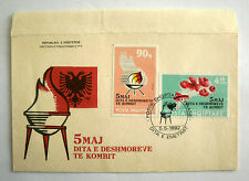 Albanian Stamps 1992. 5 May Day of Heroes of WWII. FDC. Mi. Nr. 2497, 2498.