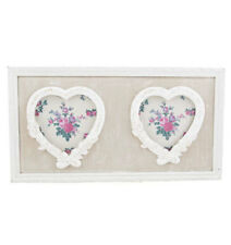Sass & Belle Double Heart Hanging Petite Fleur Photo Frame