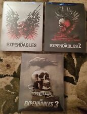 THE EXPENDABLES 1 2 3 BLU-RAY STEELBOOK EDITION LOT OF 3 MOVIES