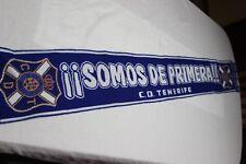 BUFANDA DE FUTBOL DEL CLUB DEPORTIVO TENERIFE SOMOS DE PRIMERA COTIZADA  SCAR