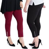 Magna - Leggings in 6 Farben- Nieten Applikation - 40 42 44 46 48 50 52 54 56 58