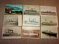 VINTAGE UNION CASTLE LINE POSTCARDS X 9