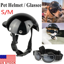 Motorcycle Safety Helmet For Pet Cat Dog Puppy Protect Bike Accessories US