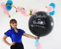 Gender Reveal Balloon Heart Confetti Tail Baby Shower Sister or Brother Oh Baby