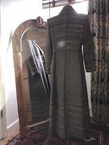 Designer Weaving Company - Hand Woven Welsh Wool Stunning Maxi Riding Coat
