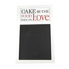 Heaven Sends If Cake Be The Food Of Love Chalkboard Blackboard Notice Board NEW