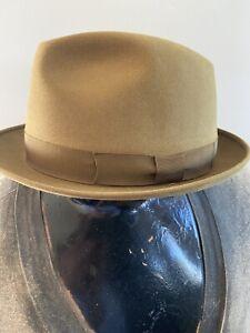"Stetson "" Milano"" hat Size 7/8 Gold Bronze. - Excellent Condition"