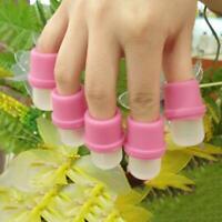 10 Pcs Wearable Nail Acrylic Soaker Kit Polish Remover Tip Removal Cap Gel O1I4
