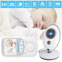 Wireless Video Baby Monitor LCD Infant Surveillance 2 Way Audio Night Vision USA