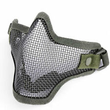 Foldable Airsoft Paintball Tactical Metal Mesh Halt Mask Army Green New Masks Us