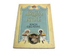 Dainty Desserts for Dainty People,  Vintage Cook Book by KNOX GELATINE - 1915