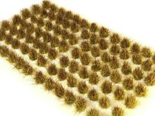 6mm Yellow Brown Grass Tufts: 98 Self-Adhesive Multi-Scale Tufts