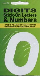"""DIGITS - STICK ON LETTERS & NUMBERS """"O/0"""" - FREE UK POSTAGE"""