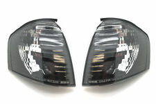 Front Indicators Clear Black Crystal-Look Pair For Mercedes W202 94-99 - On