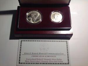 1998 S Robert F Kennedy 2-Coin Proof Set W/ box and COA. BenL5E