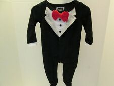Black Tuxedo Style One Piece Outfit by Mud Pie, Size 0-6 Months, New