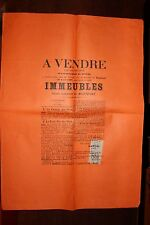 ✒ MONTFORT sur MEU Affiche vente enchères Rocher de Coulon 1897 (1)