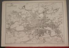 GLASGOW SCOTLAND 1863 LOWRY/DISPACH ATLAS ANTIQUE ORIGINAL LITHOGRAPHIC CITY MAP
