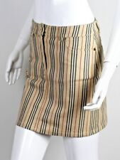 BURBERRY WOMEN'S VINTAGE STRIPED MINI SKIRT SIZE UK6 US4