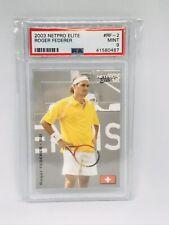 2003 NetPro Elite #RF-2 Roger Federer Rookie RC PSA 9  Pop 1🔥Only 4 higher! 🎾