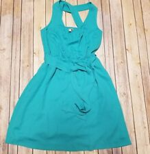 BANANA REPUBLIC  Women'sTeal Green Criss-Cross Back Empire Waist Dress Size 8