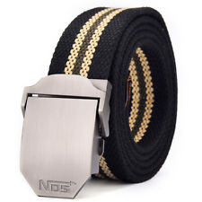 Mens Womens Ladies Canvas Belts Military Belt Automatic Buckle UK Stock Gift Bag