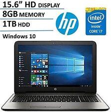 """New HP 15.6""""HD Intel 7th Gen. i7-7500U 3.5GHz 8GB DDR4 1TB HDD DVDRW HDMI Win10H"""