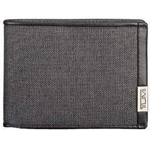 TUMI Alpha Double Billfold Wallet Anthracite Black ID Lock MSRP $85