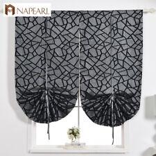 NAPEARL 1 Panel Tie Up Curtains Roman Shades Kitchen Window Short Balloon Drapes