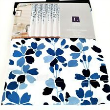 Lush Decor Shower Curtain White Blue Flower Vines New in Package