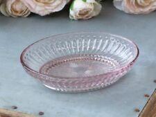 Chic Antique Schale Seifenschale Schmuckschale Glas rosa Shabby Vintage