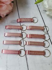Bridesmaid Maid of honour Gift Bottle Opener Keyring Favour Wedding Gift Favour