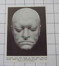 Plaster Cast Life Mask Of Poet William Blake Made By J S Delville News Clipping
