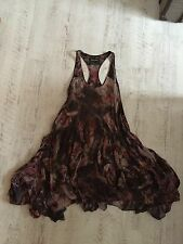All Saints Vika Lolita Parachute Tropic Print Silk Dress - Size 10