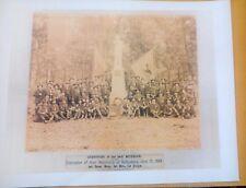 1889 24th Michigan Civil War Survivors At Their Gettysburg Monument Print